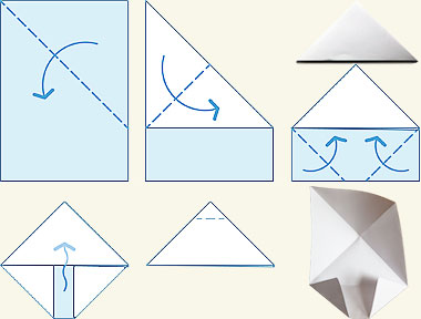 Jan 19,  · Fold down the top triangle. Fold over the triangle made by the folded corners. The paper will now resemble an envelope, with a square base and the top triangle pointed down at the bottom of the paper.
